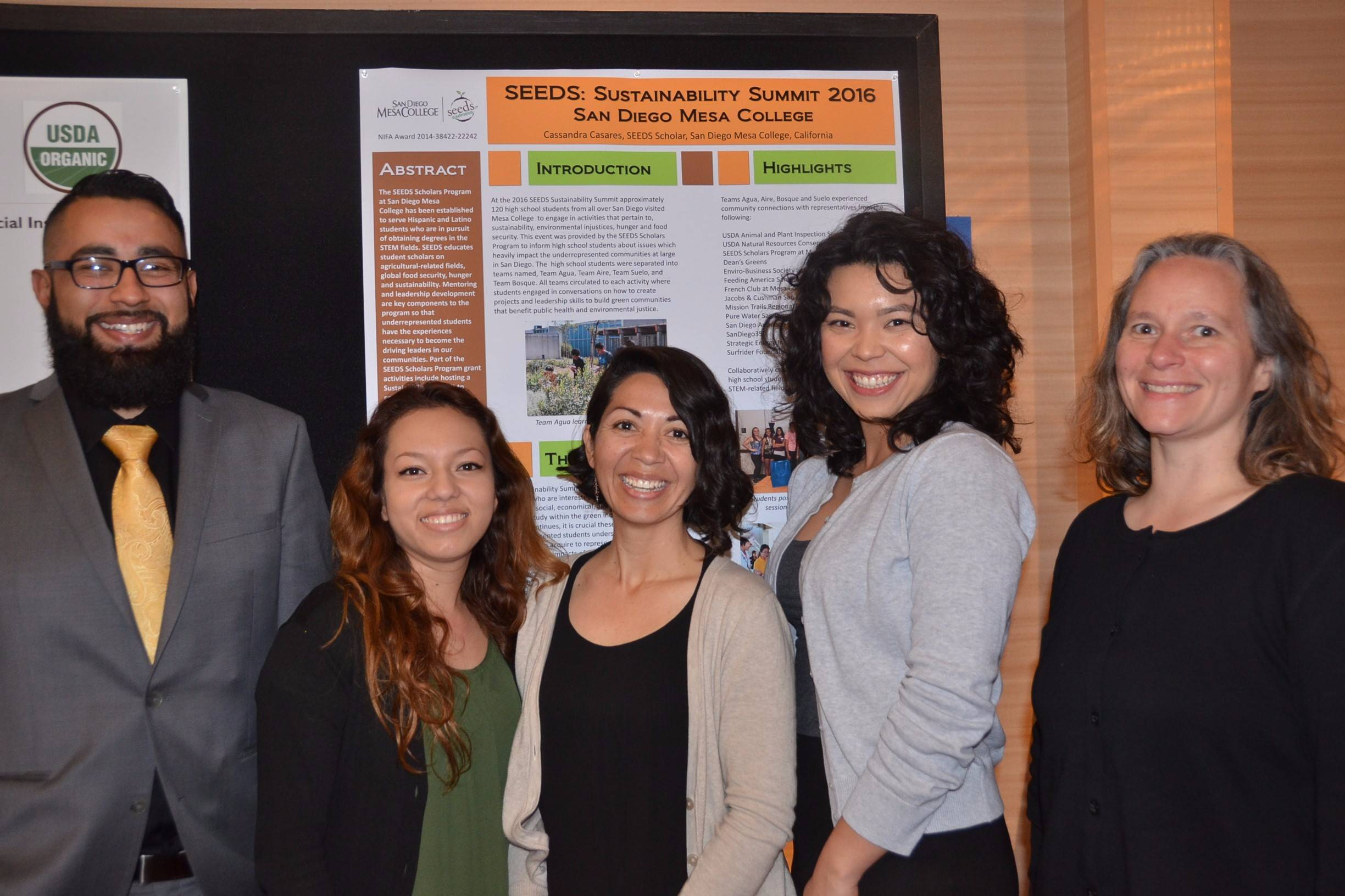 Four San Diego Mesa College SEEDS (STEM Engagement for the Enrichment of Diverse Students program) students presented their research projects at the 2017 Principal Investigator's Meeting Feb. 16-18 in Albuquerque, New Mexico.