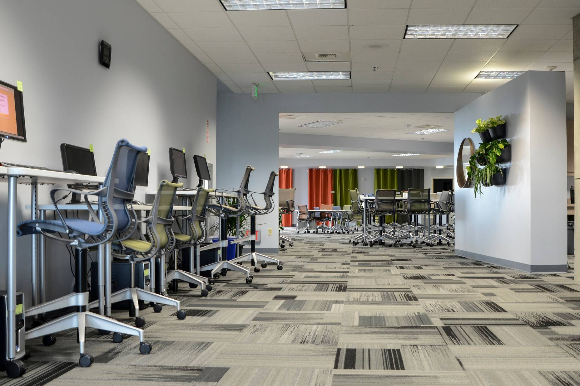 San Diego Mesa College's new LOFT – Learning Opportunities for Transformation – space, located in the Learning Resource Center, opened in April 2016, and now staff and faculty have a dedicated space on campus for professional learning.