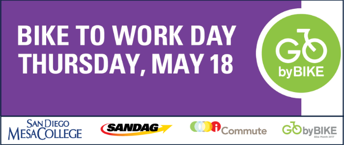 Bike to work day May 18