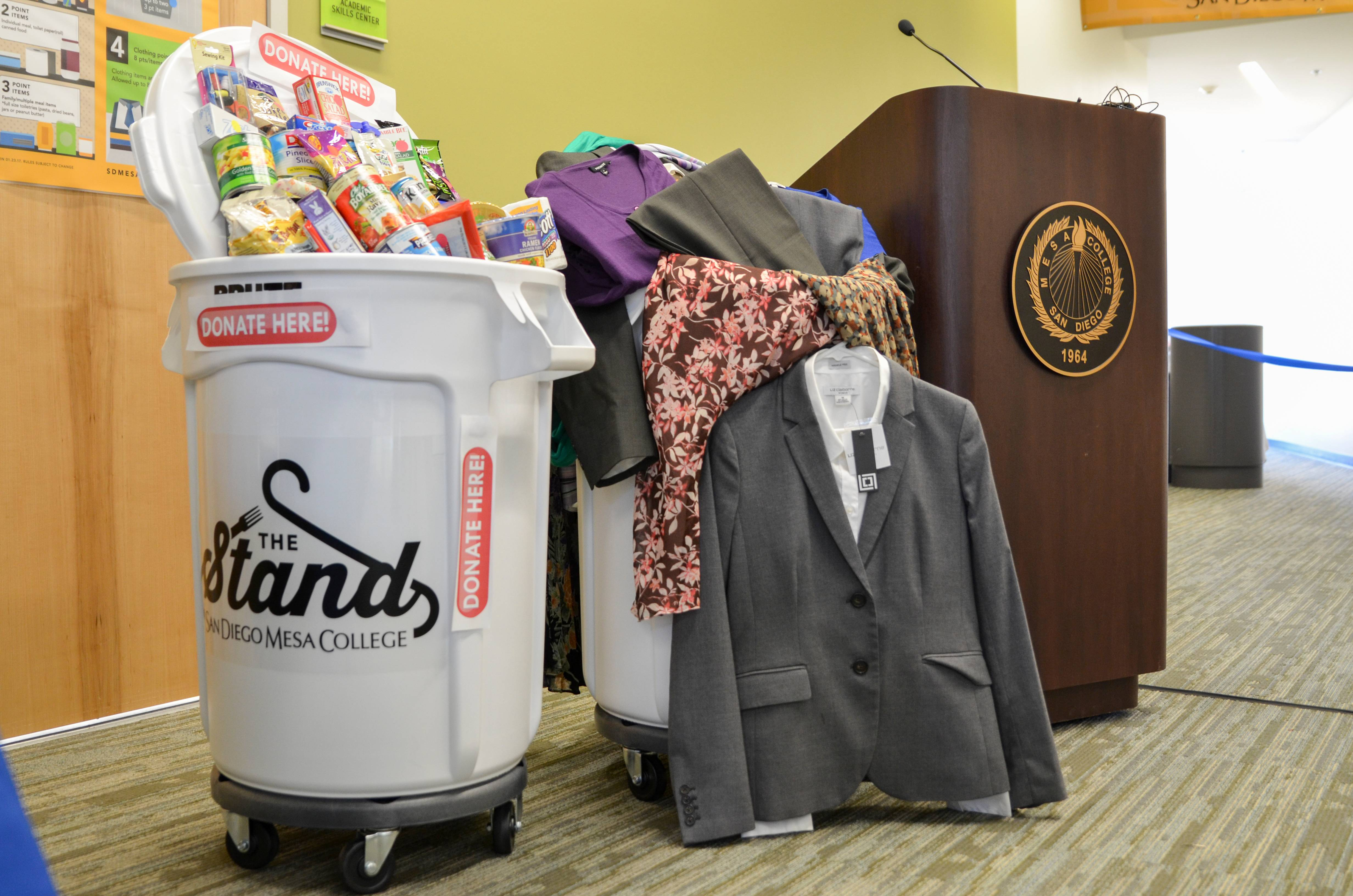 "On Thursday, February 9, 2017 at 11:00am, San Diego Mesa College celebrated the Grand Opening of ""The Stand"", a food pantry and clothing closet designed to assist students impacted by a lack of food and clothing resources."