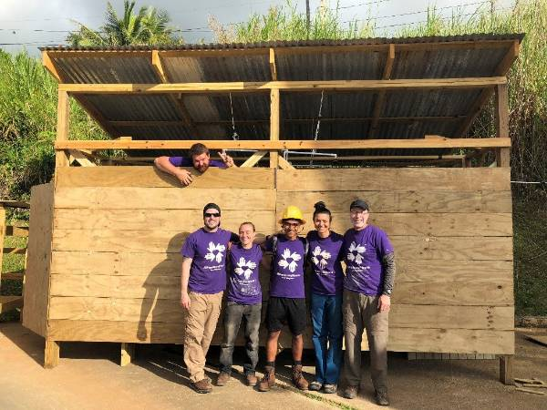 Ahmadi rebuilding homes in Puerto Rico.