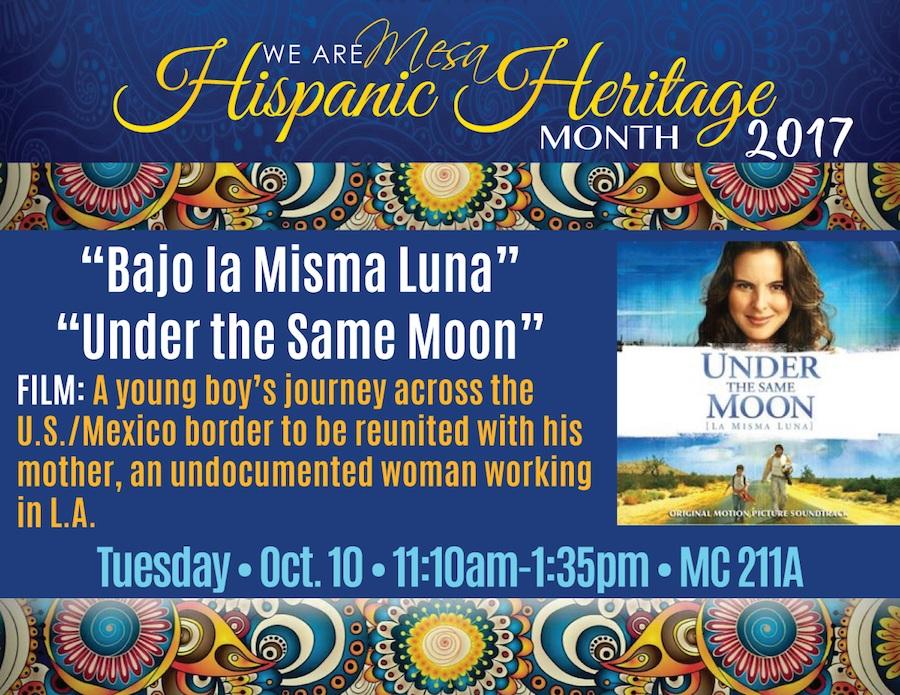 Bajo la Misma Luna\' \'Under the Same Moon\' - San Diego Mesa College ...