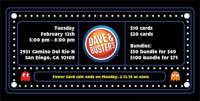 Dave & Busters fundraiser banner bottom