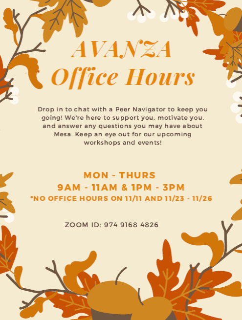 November December Office Hours