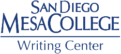 San Diego Mesa College Writing Center Logo