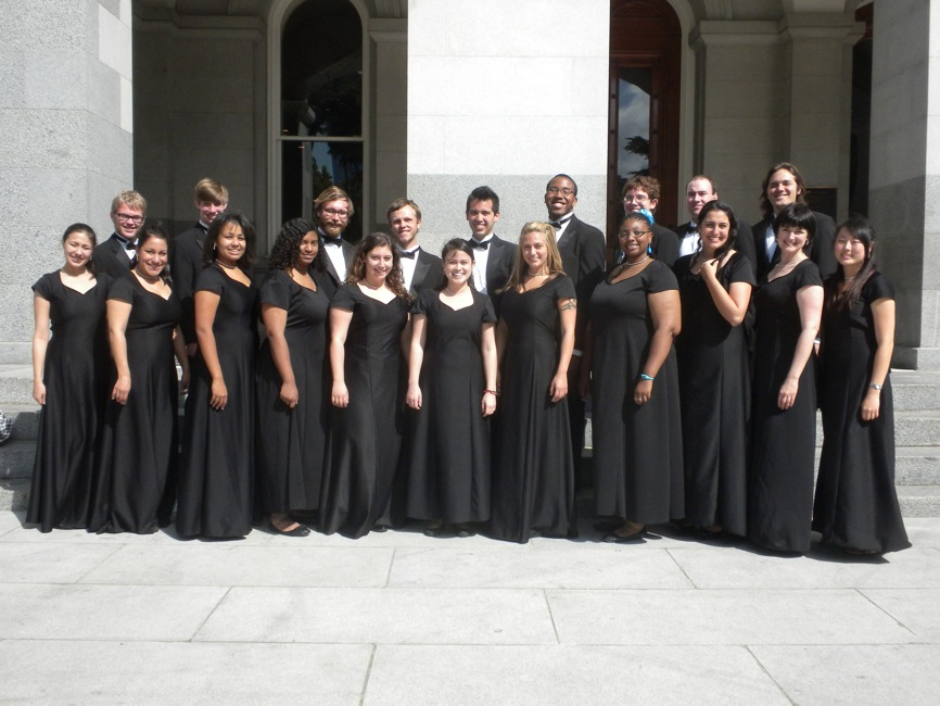 Mesa Choir on Steps of Capitol