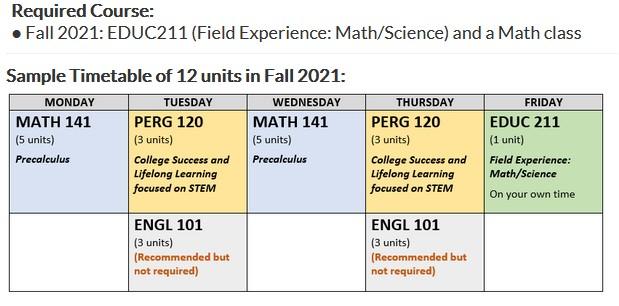STEM TE schedule template-FA21