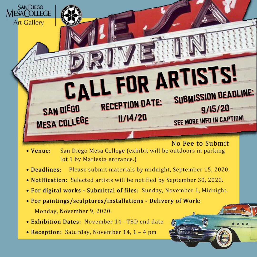mesa gallery drive thru exhibit call for artist