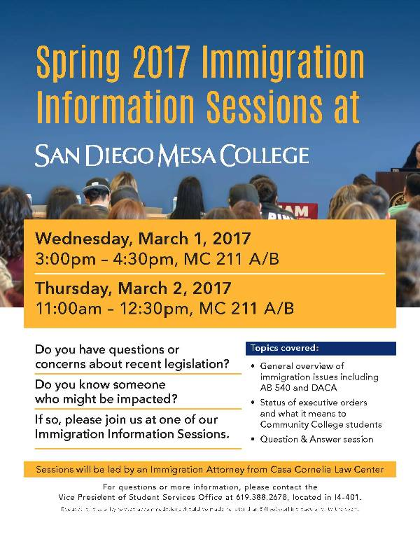 Immigration Information session