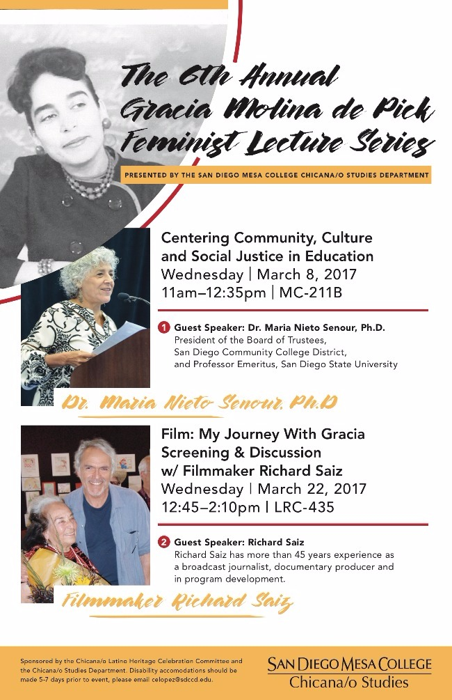 The 6th Annual Gracia Molina de Pick Feminists lecture series