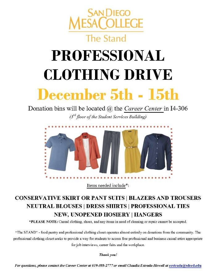 professional clothing drive