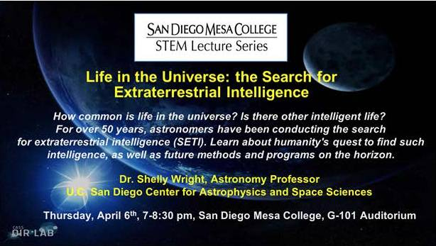 STEM Lecture Series Committee is pleased to announce : Dr. Shelly Wright