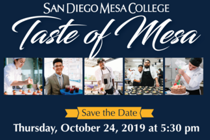 San Diego Mesa College Announces Date for 2019 Premier Culinary Event,