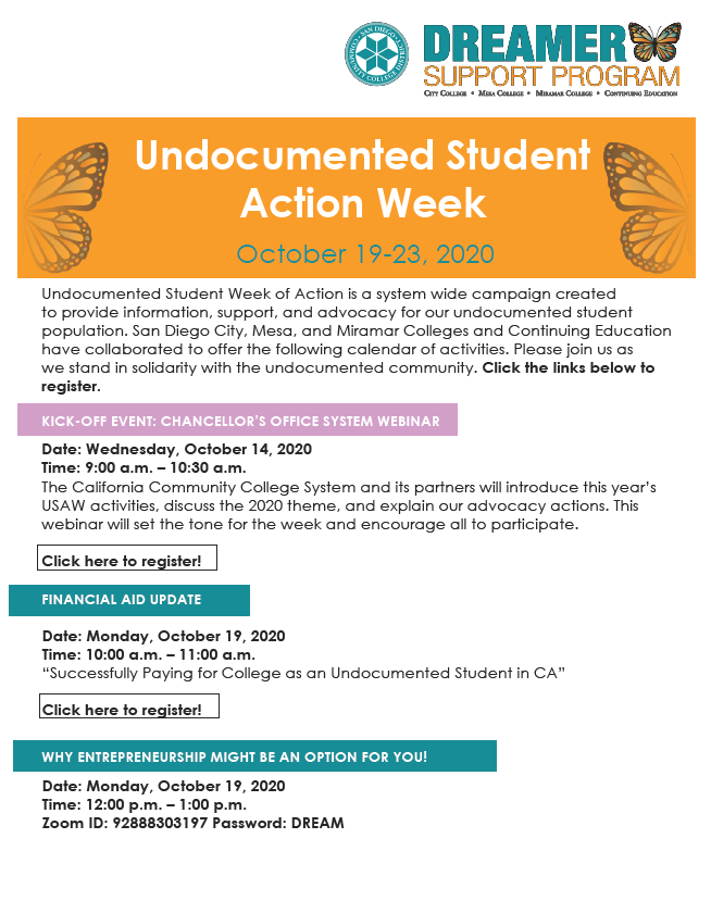 Undocumented Week Of Action Schedule