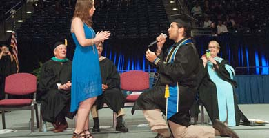 She said YES! Mesa's 1st Commencement Proposal!
