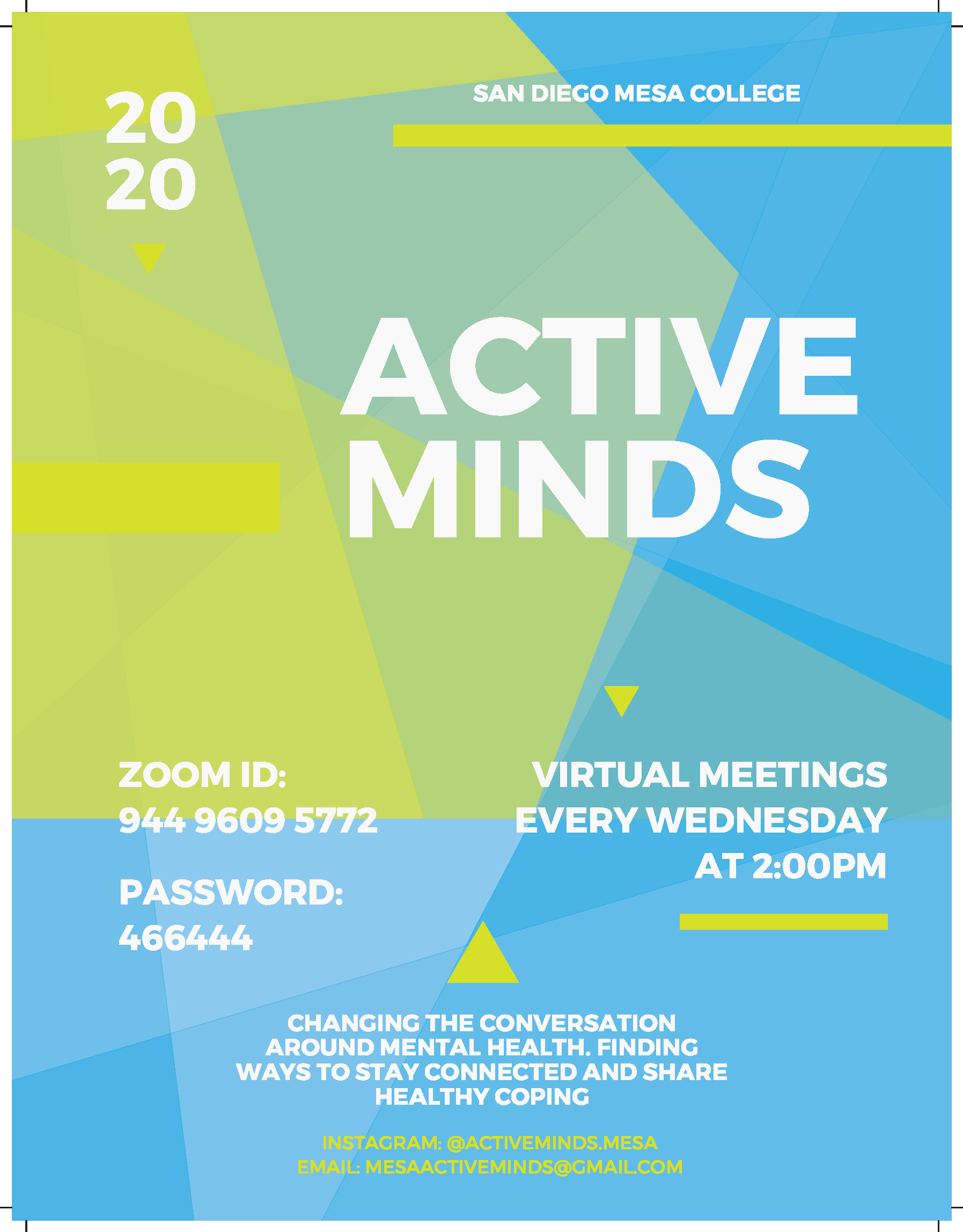 Active Minds poster 2020